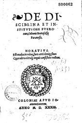 De disciplina et institutione puerorum, Othonis Brunsfelsii Paraenesis...