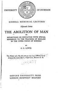 The Abolition of Man Book