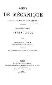 Cours de mécanique appliquée aux constructions: Volume2