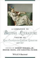 A Companion to British Literature  Volume 3 PDF