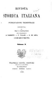 Rivista storica italiana: Volume 5