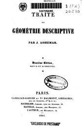 Traité de géometrie descriptive