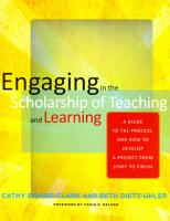 Engaging in the Scholarship of Teaching and Learning PDF