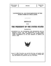 Convention No. 182 for Elimination of the Worst Forms of Child Labor: Message from the President of the U.S