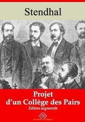 Projet d'un collège des pairs: Nouvelle édition augmentée