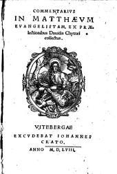 Commentarivs In Matthaevm Evangelistam