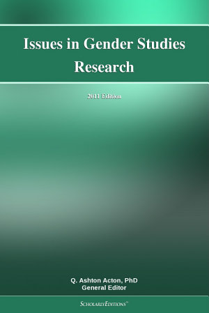 Issues in Gender Studies Research  2011 Edition PDF