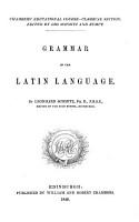 Grammar of the Latin Language PDF