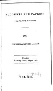 Parliamentary Papers: Volume 91