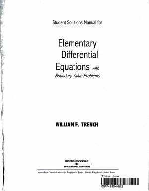 Elementary Differential Equations with Boundary Value Problems PDF