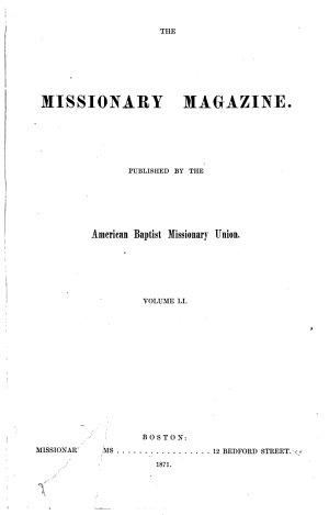 Baptist Missionary Magazine