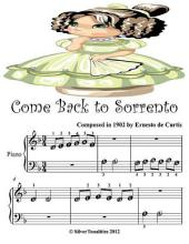 Come Back to Sorrento - Beginner Tots Piano Sheet Music