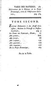 Oeuvres de théatre de M. Diderot: avec un discours sur la poésie dramatique
