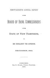Annual Report of the Bank Commissioner of the State of New Hampshire