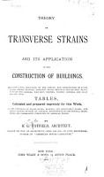 Theory of Transverse Strains and Its Application in the Construction of Buildings PDF