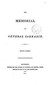 The memorial of general Sarrazin. [Followed by]