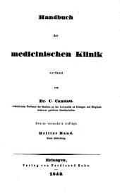 Handbuch der medicinischen Klinik: Band 3,Ausgabe 1