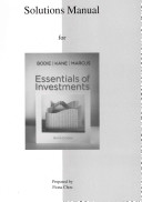 Solutions Manual to accompany Essentials of Investments PDF