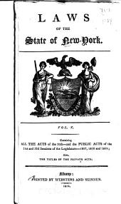 Laws of the State of New York: Volume 30