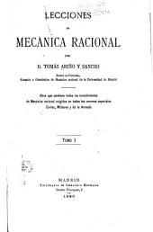 Lecciones de mecánica racional: Volumen 1
