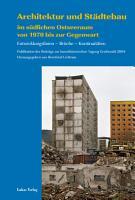 Architektur und St  dtebau im s  dlichen Ostseeraum von 1970 bis zur Gegenwart PDF