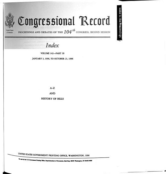 Download Congressional Record Index Book