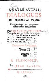Dialogues faits à l'imitation des anciens: Volume2