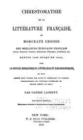 Chrestomathie de la littérature française