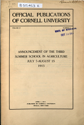 Cornell University Announcements: Volume 4, Issue 8