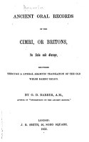 Ancient Oral Records of the Cimri  Or Britons  in Asia and Europe PDF