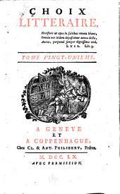 Choix littéraire: Volumes21à22