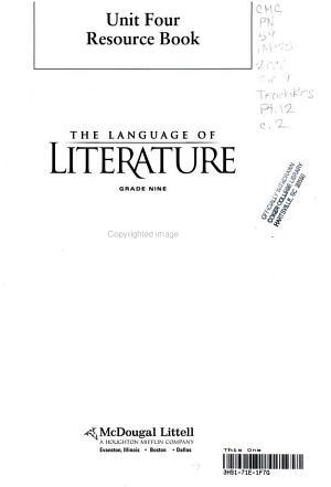 The language of literature PDF