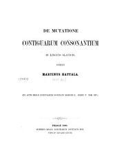 De mutatione contiguarum consonantium in linguis slavicis