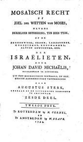 Mosaïsch recht of Ziel der wetten van Moses: Volume 6