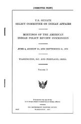 Meetings of the American Indian Policy Review Commission PDF