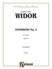 Symphony No. 3 in E Minor, Opus 13: Organ Solo