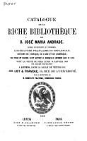 Auktionskatalog  B  cher von Jos   Maria Andrade  18  Januar 1869 PDF