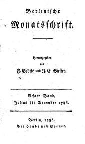 Berlinische Monatsschrift: Band 8