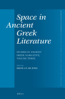 Space in Ancient Greek Literature
