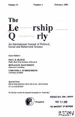 The Leadership Quarterly