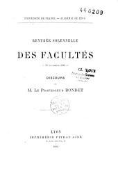 Discours sur le nervosisme prononcé à la rentrée solennelle des Facultés le 14 novembre 1881