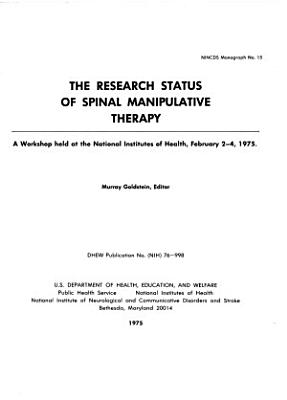 The Research Status of Spinal Manipulative Therapy