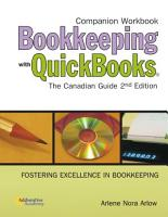 Companion Workbook Bookkeeping with QuickBooks The Canadian Guide 2nd Editon PDF