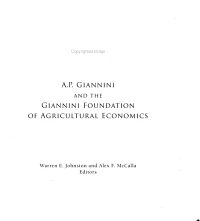 A P  Giannini and the Giannini Foundation of Agricultural Economics PDF