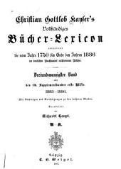 Vollständiges Bücher-Lexicon: Band 1