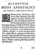 Allocutio missi apostolici ad omnes circumstantes