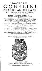 Cosmodromium hoc est chronicon universale