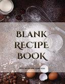 Blank Recipe Book Book
