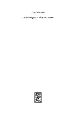 Anthropologie des Alten Testaments PDF