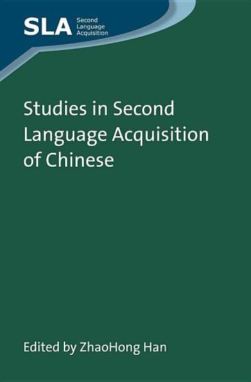 Studies in Second Language Acquisition of Chinese PDF